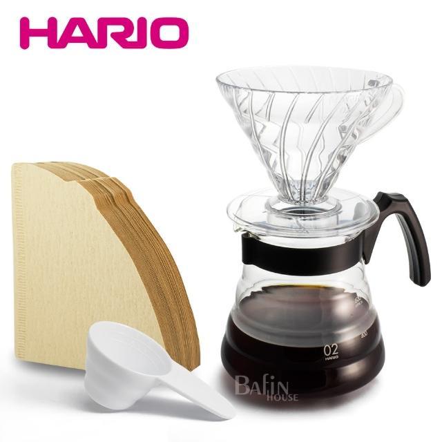 【HARIO】百年紀念手沖壺組(濾紙+濾杯+咖啡壺)/