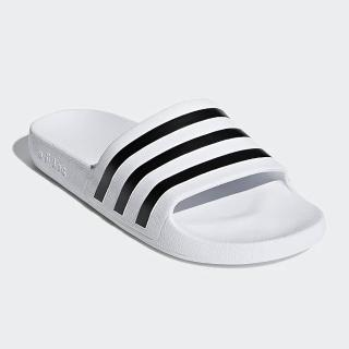 【adidas 愛迪達】男女鞋 休閒 運動拖鞋 Adilette Aqua 白 F35539
