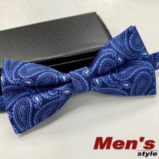 【vivi 領帶家族】男仕配件//結婚新郎、伴郎紳士領結、蝴蝶結+贈口袋巾(G15藍)