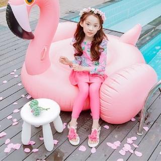 【AS 假日泳裝】兒童 泳衣 泳裝 兒童泳裝 女童 二件式 長袖 裙子 防曬 潛水小童泳裝CR441