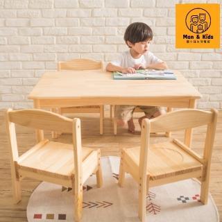 【Man & Kids 寵傢俬】Fun心長大幼兒桌椅組(一桌四椅)(幼兒成長桌椅)