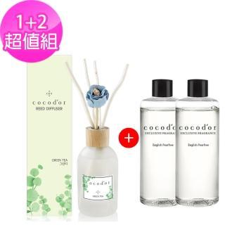 【cocodor】莫蘭迪擴香瓶 200ml+補充瓶 1+2超值組