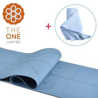 【The One】環保TPE正位線雙色瑜珈墊 6mm+ 防滑隱形矽膠瑜珈舖巾