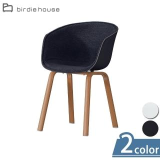 【柏蒂家居】比洛曲線造型布面休閒椅-單椅(二色可選)/