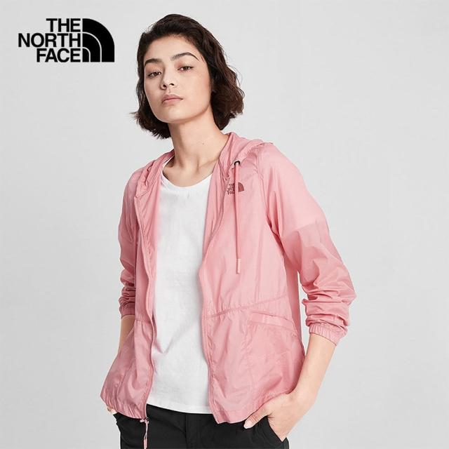 【The North Face】The North Face北面女款粉色防風防潑水休閒外套|4NCFHK4