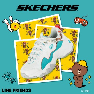 【SKECHERS】女 休閒系列 D LITES 3.0 - LINE FRIENDS 熊大限定款(66666255WAQ)