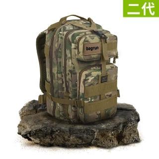 【Bagrun】二代都會玩家軍事風格瞬開後背包-L-多地形迷彩