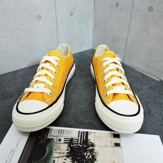 【X-INGCHI 帆布帆】X-INGCHI 男款基本款黃色低筒帆布鞋-NO.X0002