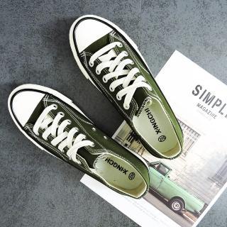【X-INGCHI 帆布帆】X-INGCHI 男款基本款綠色低筒帆布鞋-NO.X0003