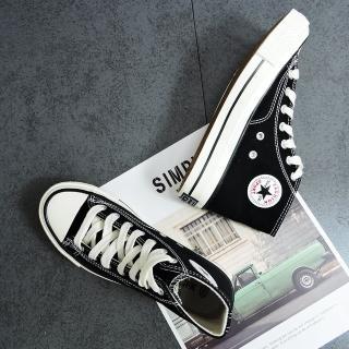 【X-INGCHI 帆布帆】X-INGCHI 女款基本款黑色高筒帆布鞋-NO.X0009