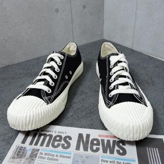 【X-INGCHI 帆布帆】X-INGCHI 男款黑色帆布餅乾鞋-NO.X0021