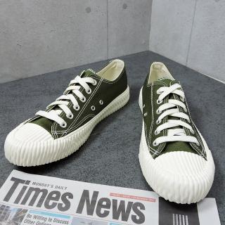 【X-INGCHI 帆布帆】X-INGCHI 男款綠色帆布餅乾鞋-NO.X0023