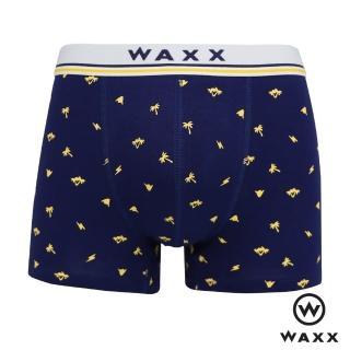 【WAXX】夏夜趴踢-超彈性特級棉四角內褲(海藍色)