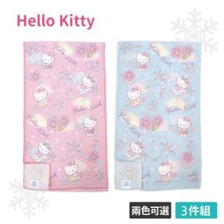 【SANRIO 三麗鷗】Hello Kitty 涼感運動巾3件組(兩色任選)