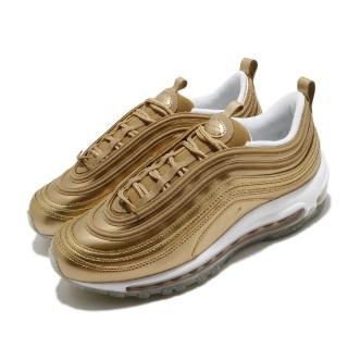 【NIKE 耐吉】休閒鞋 Air Max 97 運動 女鞋 經典款 氣墊 避震 簡約 穿搭 金 白(CJ0625-700)