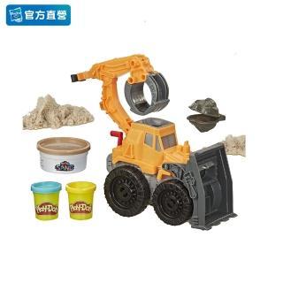 【PLAYDOH 培樂多】車輪系列(無毒 挖土工程機 E9226)