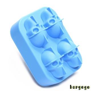 【bargogo】4格骷髏頭造型矽膠製冰盒(可當副食品分裝盒)