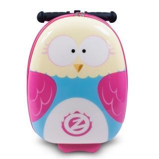 【Zinc Flyte】多功能行李箱滑板車-奧莉維亞貓頭鷹(有贈品)