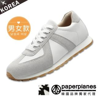 【Paperplanes】正韓製/版型正常。立體拼接撞色運動情侶休閒鞋(7-1497/二色-現貨+預購)