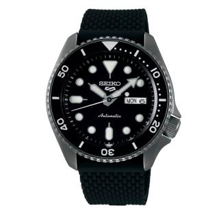 【SEIKO 精工】5 Sports 系列黑面橡膠機械錶 x42.5mm(4R36-07G0K/ SRPD65K2)