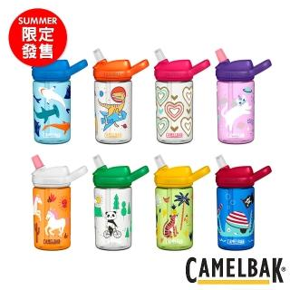 【CAMELBAK】限定版 eddy 兒童吸管運動水瓶 400ml(水杯/水壺/補水/戶外/露營)