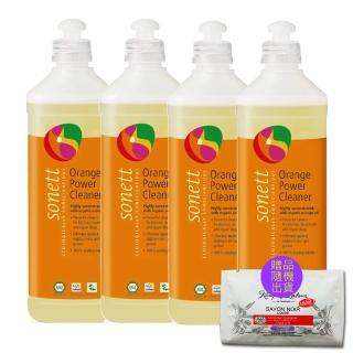 【德國sonett律動】廚房油垢專用橘精4瓶組贈試用包3包(500ml瓶;贈品隨機)