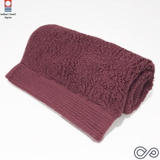 【今治織上】COCOON埃及棉 方巾-酒紅色(日本今治認證毛巾專門店)