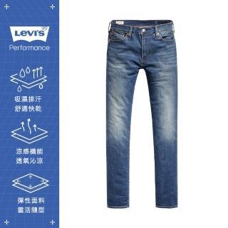 【LEVIS】男款 511低腰修身窄管牛仔褲 / Cool Jeans 輕彈有型 / 中藍刷白-人氣新品