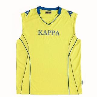 【KAPPA】義大利時尚棈典吸濕排汗型男寬肩背心(清黃)