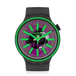 【SWATCH】BIG BOLD光譜系列手錶 PINK TASTE 亮彩粉紅(47mm)