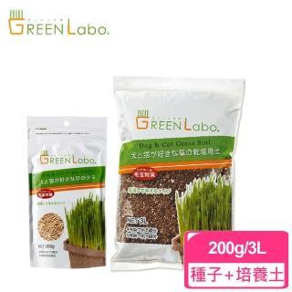 【GreenLabo】燕麥種子200g+貓草培養土3L組合包