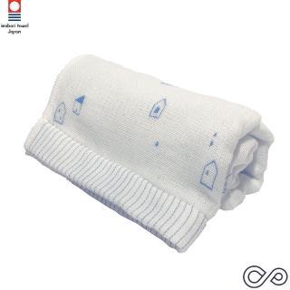 【今治織上】四重織紗布 長巾-藍色(日本今治認證專門店)