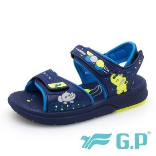 【G.P】女 童鞋 兒童大象綿綿鞋  涼鞋(藍)