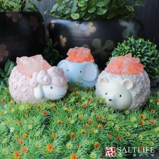 【鹽夢工場】可愛動物系列-歡喜羊羊|刺蝟寶寶|開心小象(創意造型鹽燈)