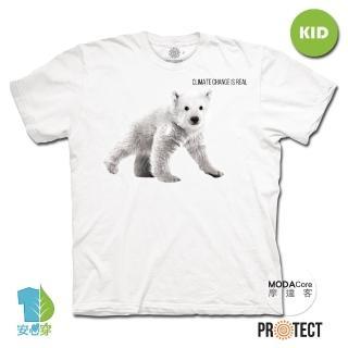 【摩達客】美國The Mountain保育系列小北極熊 兒童幼兒 白色純棉短袖T恤(現貨)