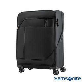 【Samsonite 新秀麗】27吋Janik商務功能性飛機輪TSA布面行李箱(黑色)