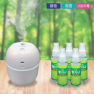 【XINCHI】多功能車用USB水氧加濕器 加贈韓國芬多精抗菌液*5