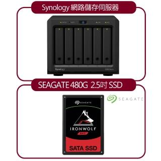 【希捷 NAS超值組合】DS620Slim 網路儲存伺服器+【SEAGATE 希捷】IronWolf 110 那嘶狼 480G