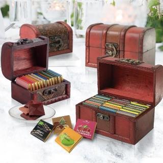 【Diva Life】比利時進口純巧克力15片-迷你珠寶盒(兩盒組)