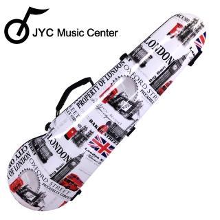 【JYC Music】JV-1004英倫彩繪小提琴三角硬盒(4/4)