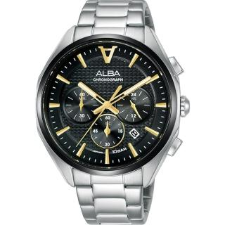 【ALBA】雅柏 東京賽車計時手錶42mm(AT3G79X1/VD53-X366D)