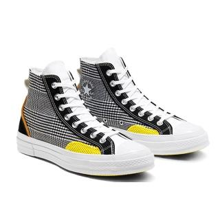 【CONVERSE】CHUCK 70 HI BLACK/WHITE/SPEED YELLOW 休閒鞋 男 黑拼接(168696C)