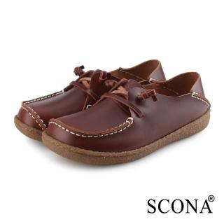【SCONA 蘇格南】全真皮 手工2way休閒鞋(咖啡色 7336-2)