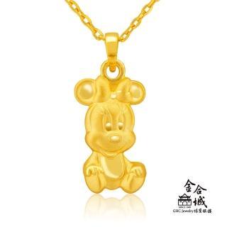【Disney 迪士尼】米妮寶寶黃金墜(金重約1.13錢)