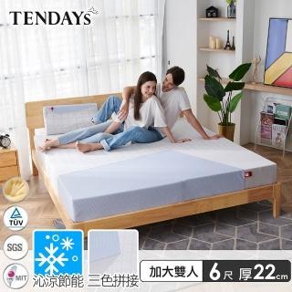 【TENDAYS】包浩斯紓壓床墊6尺加大雙人(22cm厚 可兩面睡 記憶床)
