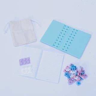 【生活工場】【女神節推薦】馬卡龍積木造型筆記本組合