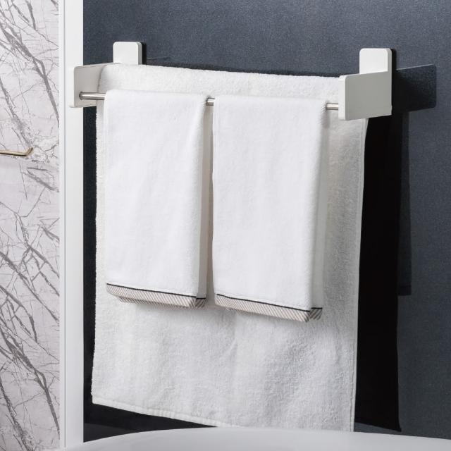 【3M】無痕極淨防水收納系列雙層伸縮毛巾架