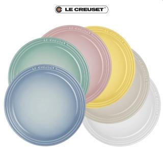 【Le Creuset】瓷器雪酪系列圓盤組18cm-6入