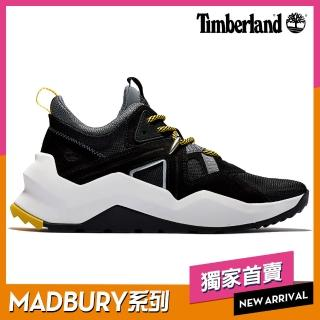 【Timberland】女款MADBURY黑色絨面革織物拼接運動鞋(A42UD015)/