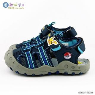【童鞋城堡】神奇寶貝 透氣護趾運動涼鞋 寶可夢(PA3571-藍)